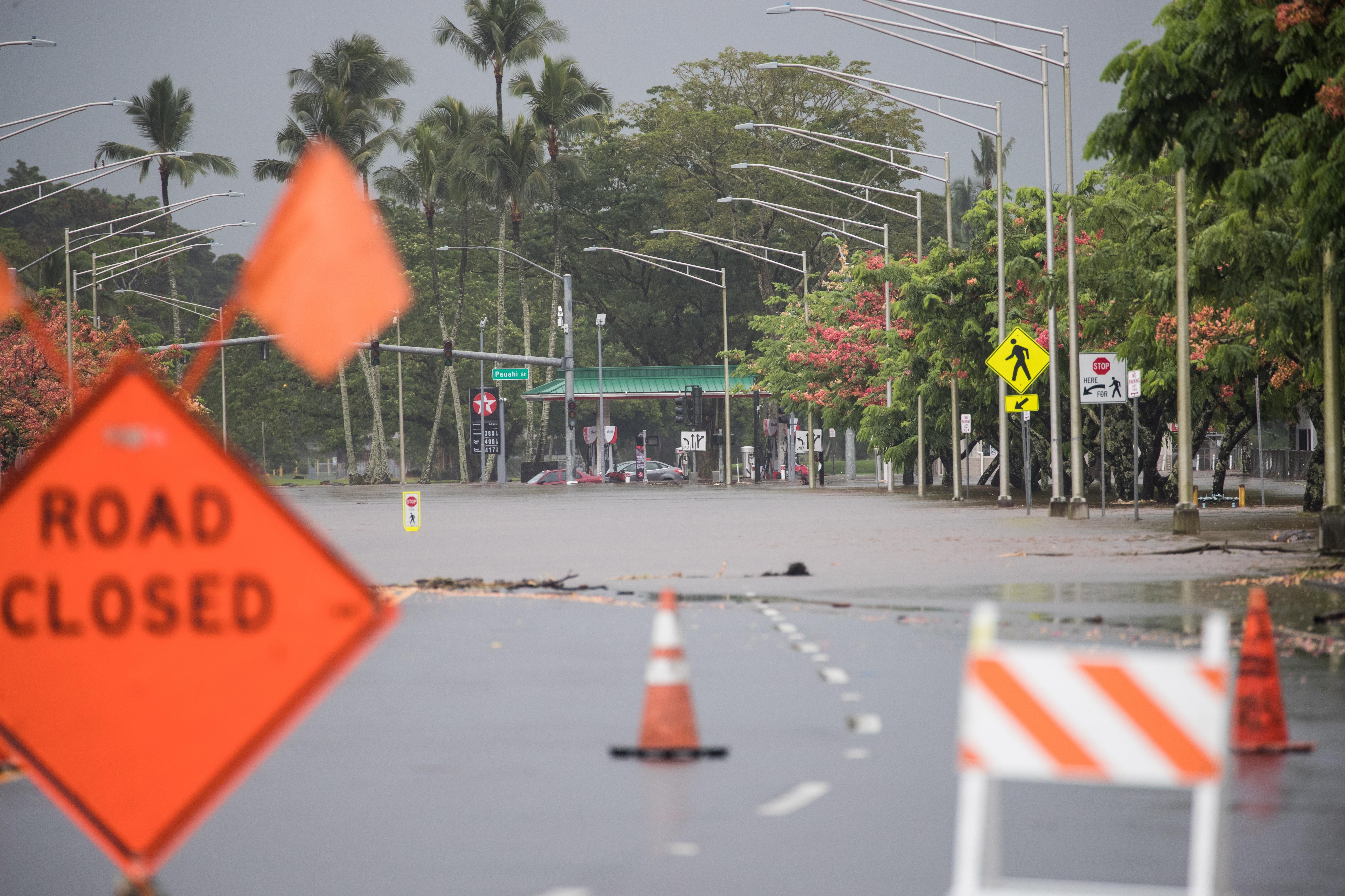 Hurricane Lane affects Hawaii